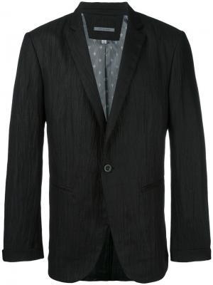 Пиджак с мятым эффектом John Varvatos. Цвет: чёрный