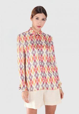Блуза Sana.moda. Цвет: разноцветный