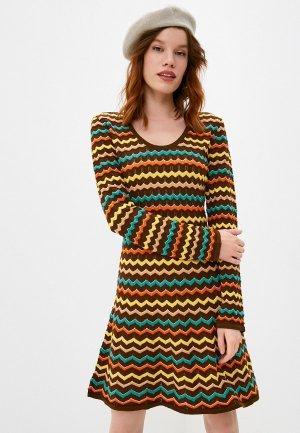 Платье Missoni. Цвет: коричневый