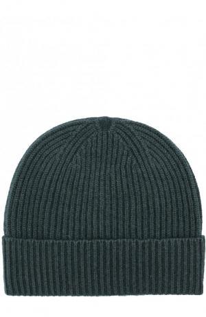 Кашемировая шапка с отворотом malo. Цвет: темно-зеленый
