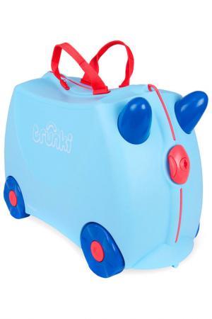 Чемодан на колесах Джоржд TRUNKI. Цвет: голубой