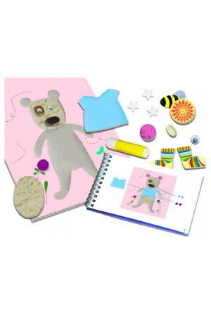 Набор Аппликация для малышей Djeco. Цвет: голубой