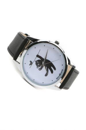 Часы Кошка и птичка MITYA VESELKOV. Цвет: черный