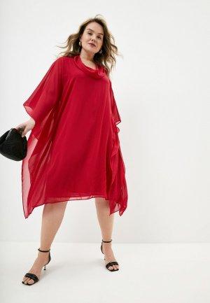 Платье Elena Miro. Цвет: красный