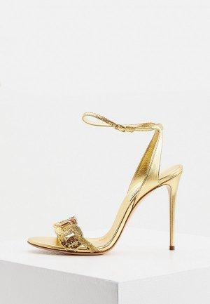 Босоножки Casadei. Цвет: золотой