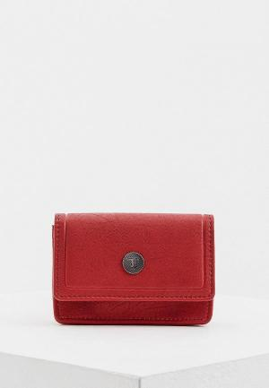 Визитница Trussardi Jeans. Цвет: красный