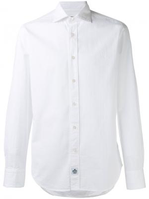 Полосатая рубашка Hydrogen. Цвет: белый