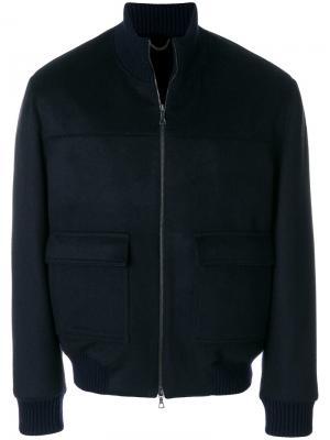 Стеганая куртка на молнии Manzoni 24. Цвет: синий