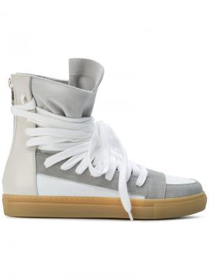 Хайтопы со шнуровкой Kris Van Assche. Цвет: серый