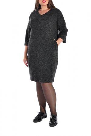Платье Forus. Цвет: черный меланж
