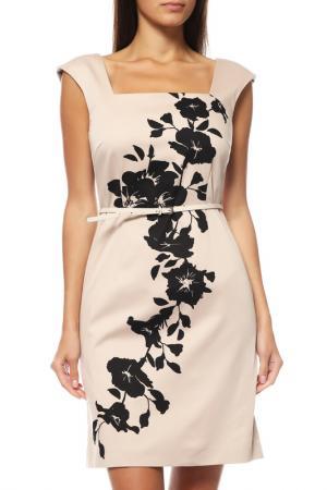 Платье Comma. Цвет: темно-бежевый
