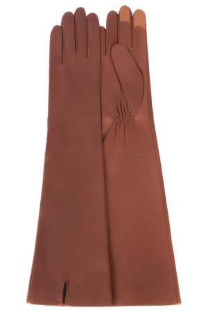 Перчатки Michel Katana. Цвет: коньячный
