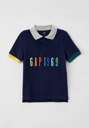 Поло Gap. Цвет: синий