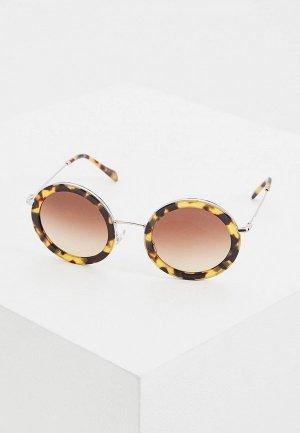 Очки солнцезащитные Miu. Цвет: коричневый