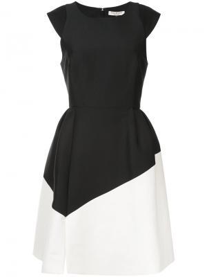 Платье с контрстными панелями Halston Heritage. Цвет: чёрный