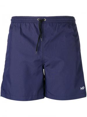 Классические пляжные шорты  Mp Massimo Piombo. Цвет: синий