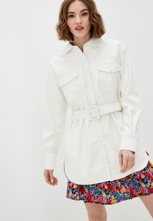 Рубашка UNQ. Цвет: белый