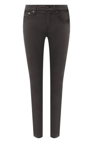 Однотонные джинсы-скинни Polo Ralph Lauren. Цвет: темно-серый
