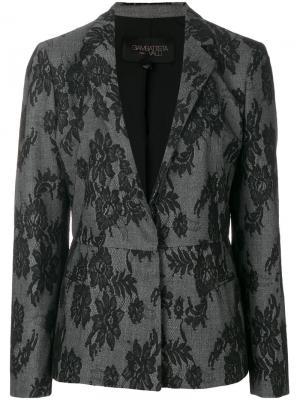 Кружевной пиджак Giambattista Valli. Цвет: серый