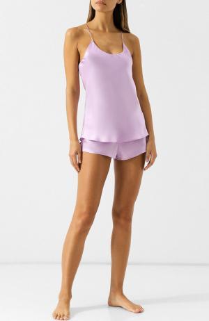 Однотонная шелковая пижама Olivia Von Halle. Цвет: сиреневый
