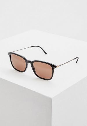 Очки солнцезащитные Giorgio Armani. Цвет: коричневый