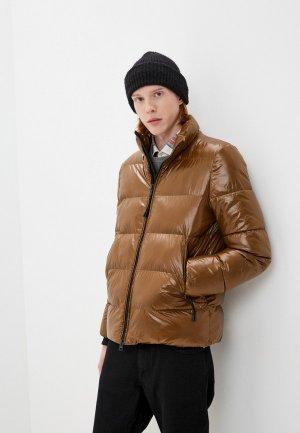 Куртка утепленная Geox. Цвет: коричневый