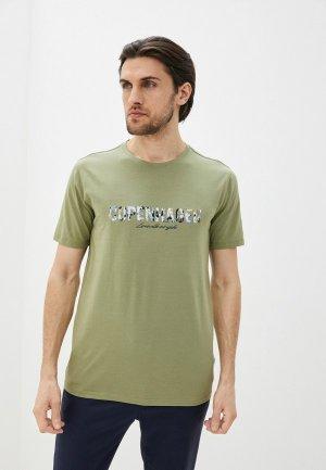Футболка Lindbergh. Цвет: зеленый