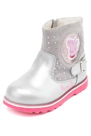 Полусапожки Peppa Pig. Цвет: серый