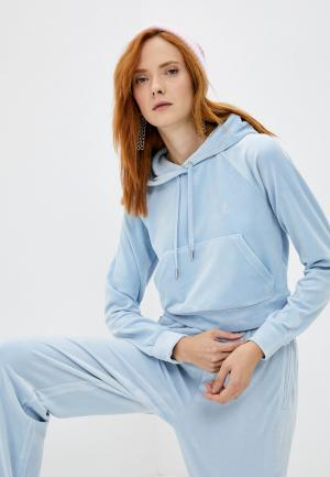 Худи Juicy Couture. Цвет: голубой