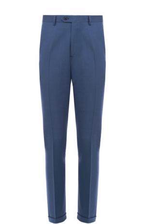 Классические брюки из смеси шерсти и кашемира Brioni. Цвет: синий