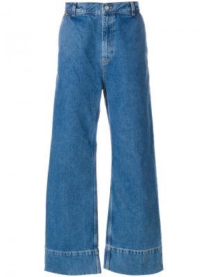 Широкие джинсы Tom Wood. Цвет: синий