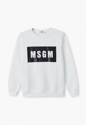 Свитшот MSGM Kids. Цвет: белый