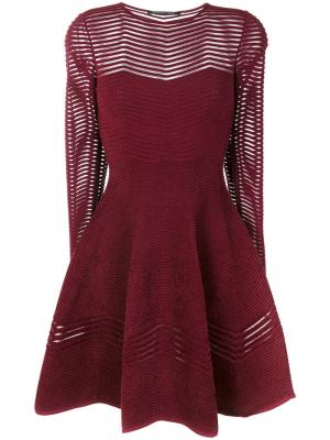 Расклешенное платье с длинными рукавами Antonino Valenti. Цвет: розовый и фиолетовый