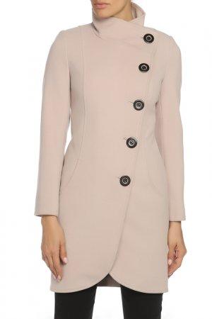 Пальто ELEGANT LEDI. Цвет: пудровый