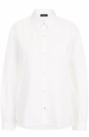 Хлопковая блуза свободного кроя Clu. Цвет: белый