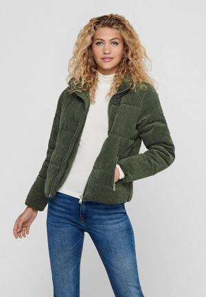 Куртка утепленная Jacqueline de Yong. Цвет: зеленый
