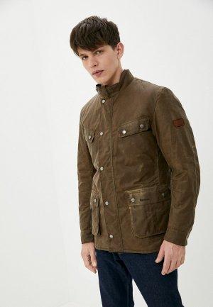 Куртка утепленная Barbour. Цвет: коричневый