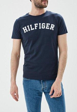Футболка домашняя Tommy Hilfiger. Цвет: синий