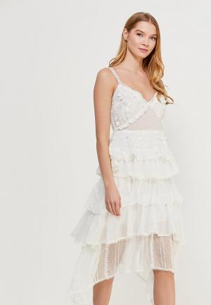 Платье LOST INK. Цвет: белый