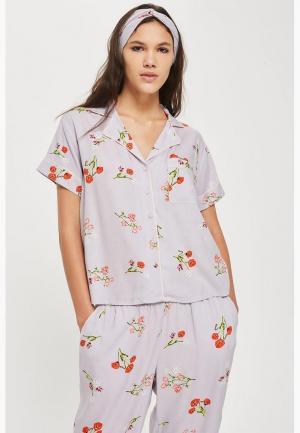 Рубашка домашняя Topshop. Цвет: фиолетовый