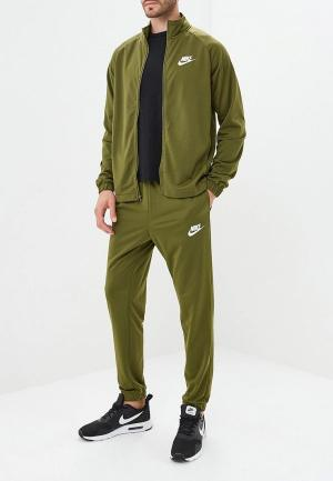 Костюм спортивный Nike. Цвет: хаки
