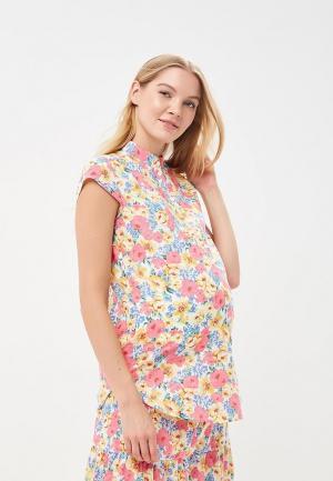Блуза MammySize. Цвет: разноцветный