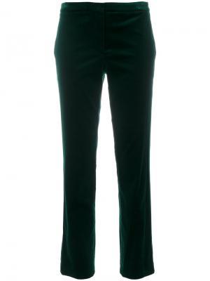 Укороченные брюки-чинос Theory. Цвет: зелёный