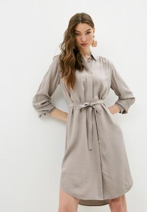Платье French Connection. Цвет: бежевый