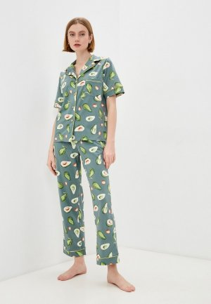 Пижама Rene Santi. Цвет: бирюзовый