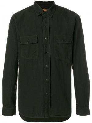 Рубашка с нагрудными карманами Kris Van Assche. Цвет: чёрный
