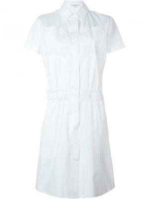 Платье-рубашка Carven. Цвет: белый