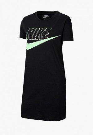Платье Nike. Цвет: черный