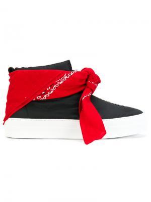 Кроссовки с банданой Joshua Sanders. Цвет: чёрный