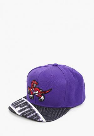Бейсболка Mitchell & Ness. Цвет: фиолетовый